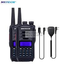 2pcs UV-82 upgraded version NKTECH UV-82 Plus Walkie Talkie Two Way Ham Radio Transceiver Dual Band 136-174/400-520MHz +MIC+CD