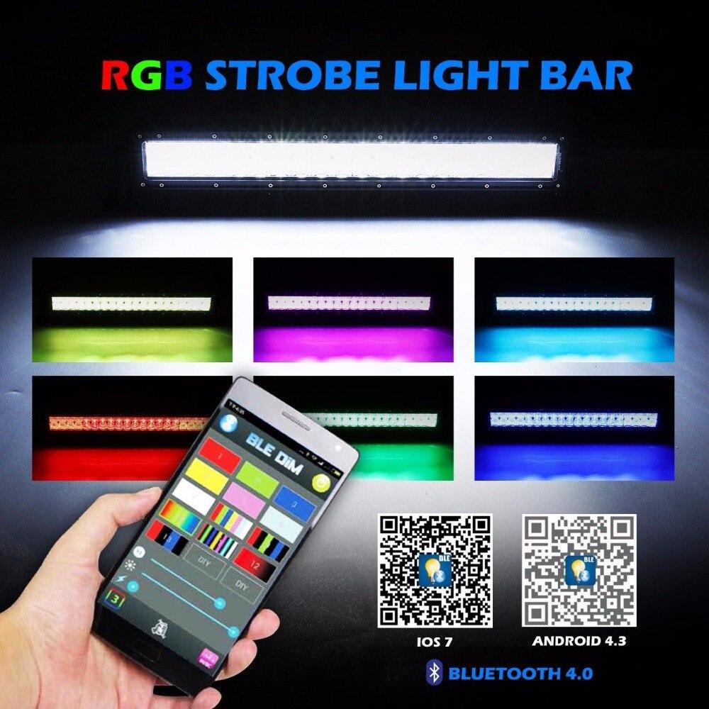 """""""22"""""""" 120ВТ 32"""""""" 320 Вт 42"""""""" 240ВТ 300Вт 52inch 5Д СИД свет бар комбо Луч 6500К с RGB Стробоскоп управляется приложения Bluetooth"""""""