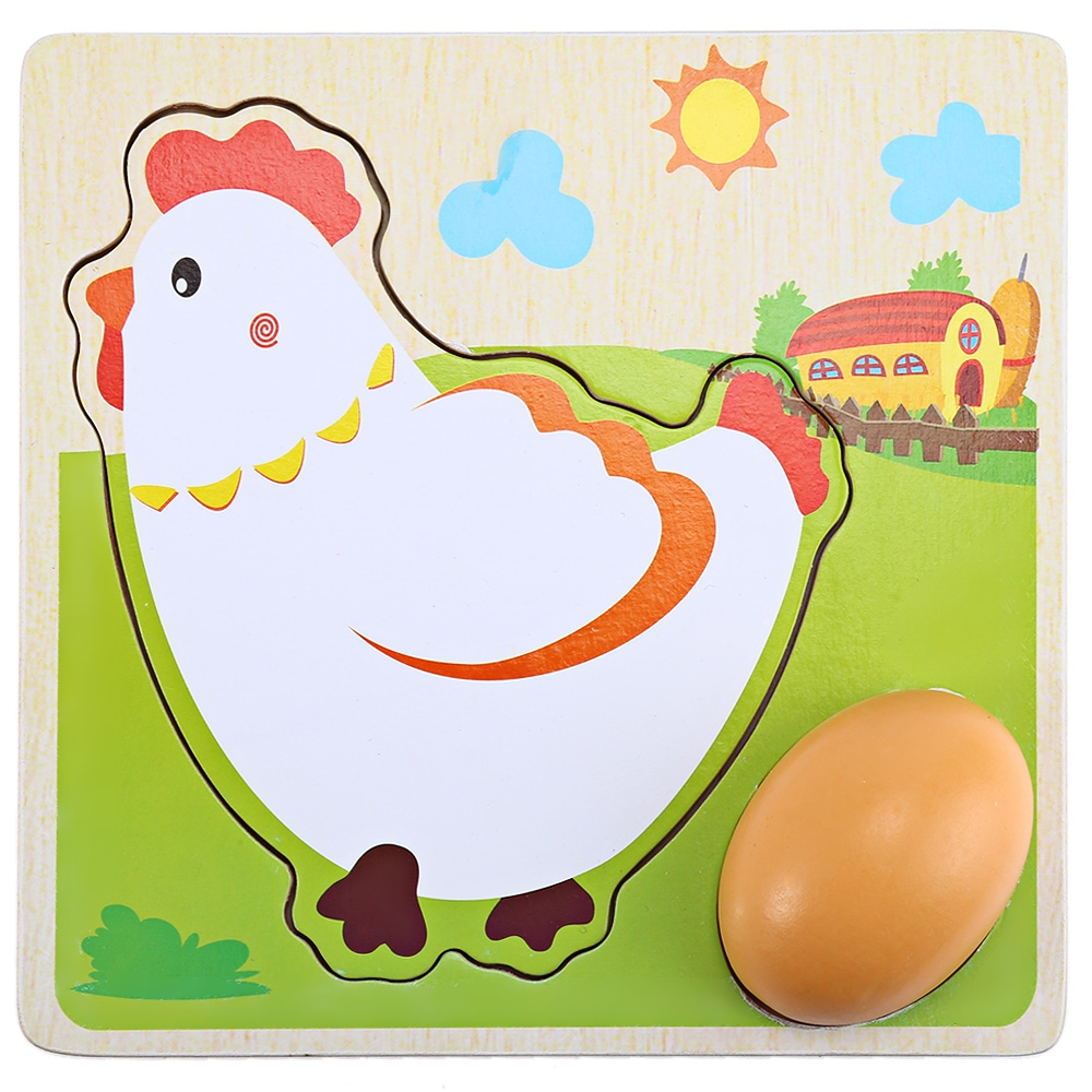 Kawaii Multi-layers Hen Grow Up Process Wooden Puzzles Children Biology Cognitive Creative Learning Education Toys for Kids Gift
