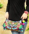 Chegada nova Hmong Handmade bordados sacos de moda das mulheres do Vintage bordados sacos de ombro mensageiro étnicas pequenas bolsas