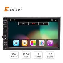 HD 1024X600 7 POUCE Universel 2Din 2 din Voiture DVD Radio lecteur GPS Navigation Android 6.0 Quad Core 16G Flash LIVRAISON CARTE