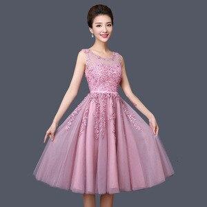 Image 5 - Dongcmy 2020 vestidos curtos de baile, mulheres mini roupa de festa de renda elegante