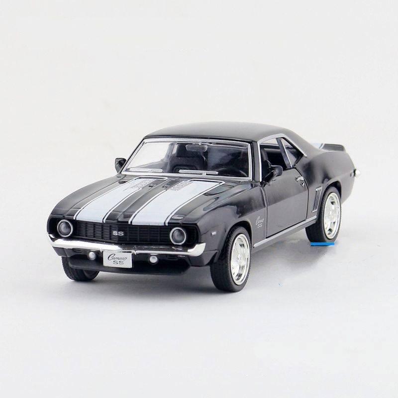 Freeshipping Children UNI-FORTUNE 1969 Chevrolet Camero SS Model Car 1:36 5inch Diecast Metal Alloy Cars Toy Pull Back Kids Gift
