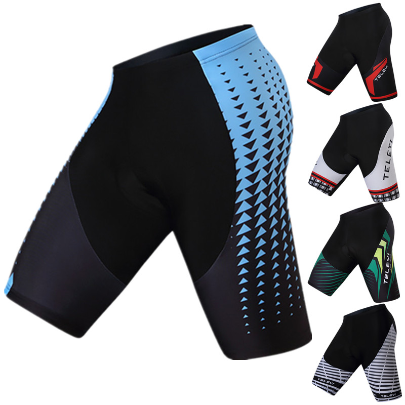 Teleyi 4D Coolmax Gel Acolchoado Ciclismo Shorts Downhill Mountain Bike Shorts Apertados À Prova de Choque Da Bicicleta Da Estrada Shorts Para O Homem Mulheres