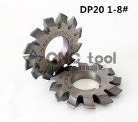 DP20 모듈러스 PA14.5 도 1-8 #8pcs/let HSS 기어 커터 기어 밀링 커터 무료 배송
