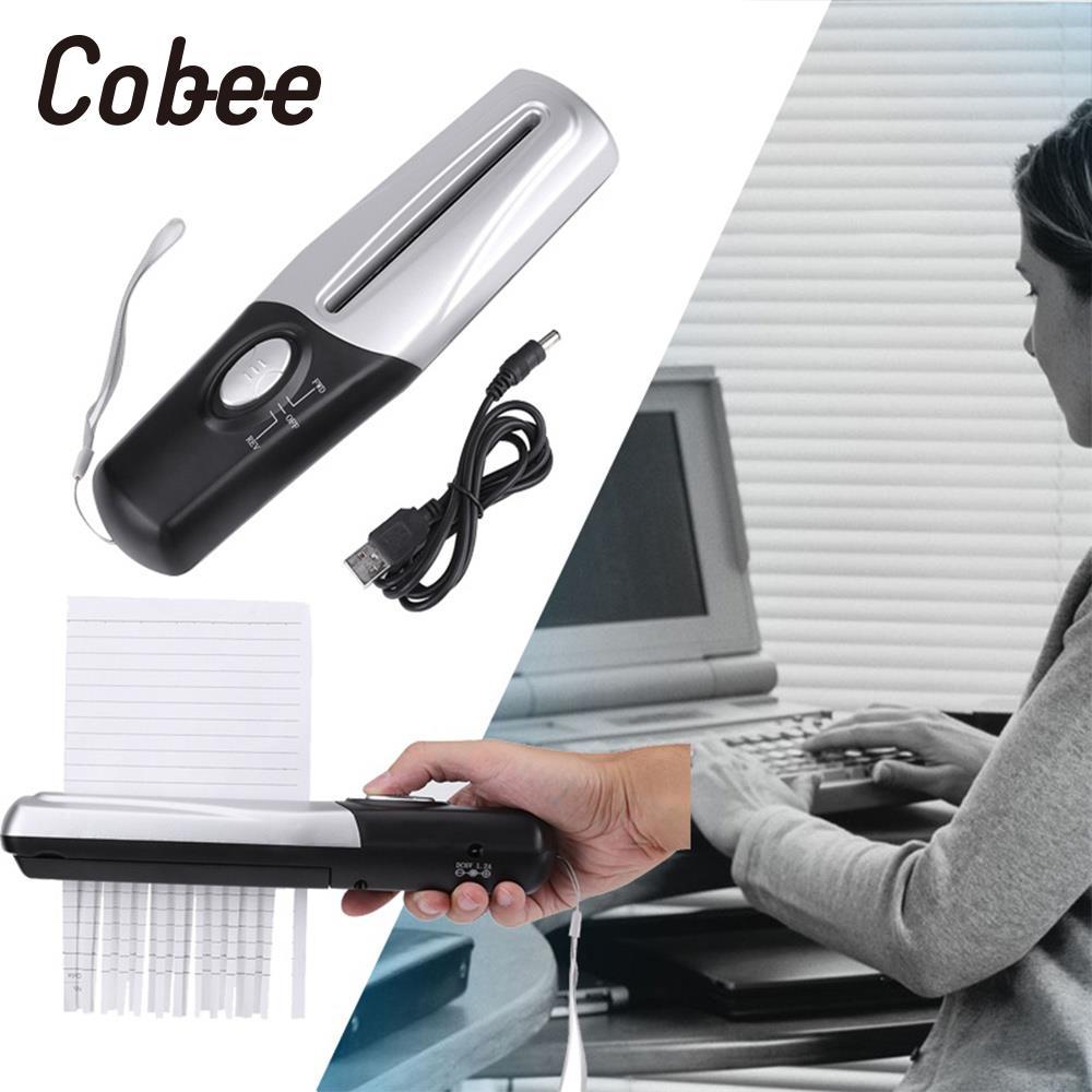 Creativo USB Portatile Alimentato Paper Trimmer e Taglierine Professionali Trituratori Papierversnipperaar Per Schiacciare Dell'ufficio della Mini Documento Trituradora Papel