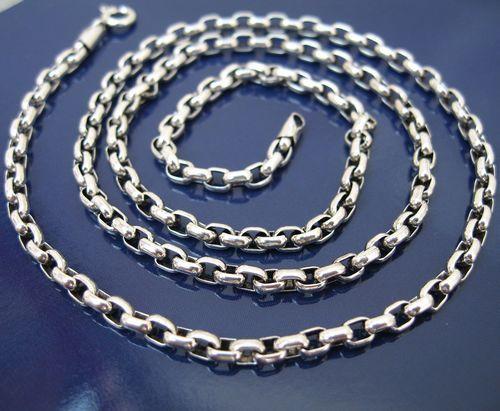 925 argent pur ovale roi kong circusy chaîne de nombreux types de longueur 5mm * 45-81cm