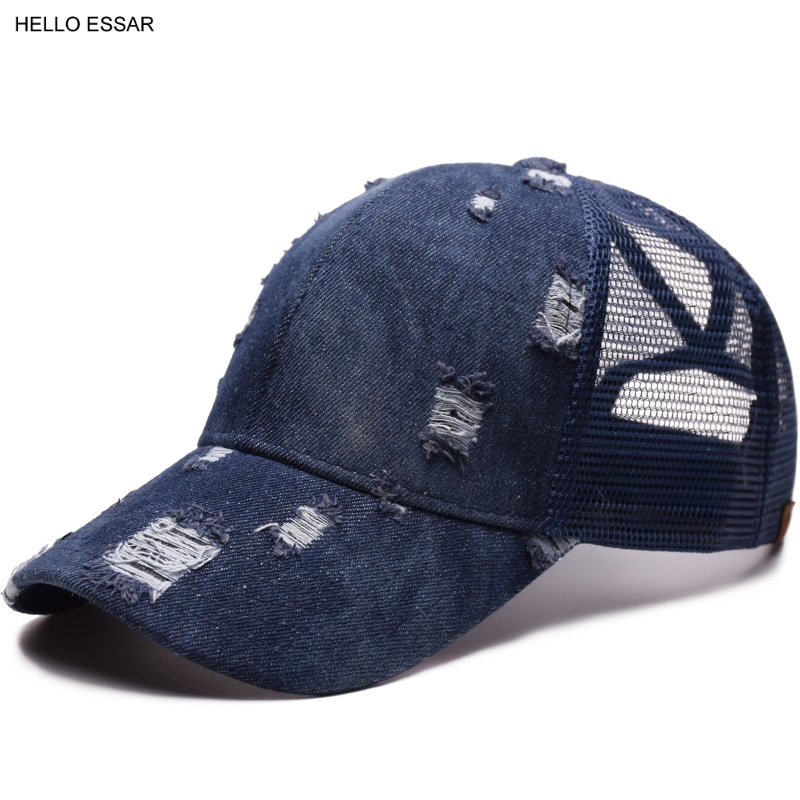 Hot Men Creative Cowboy Hole Tail Mesh   Baseball   Hat Prevent Violent Sunshine New Women Best Fashion Travel   Baseball     Cap