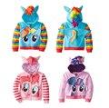 My Little Pony Girls Kids Wing En Bas Age Cosplay Costumes Cute Hooded Sweat Jacket Zip Jacket anime