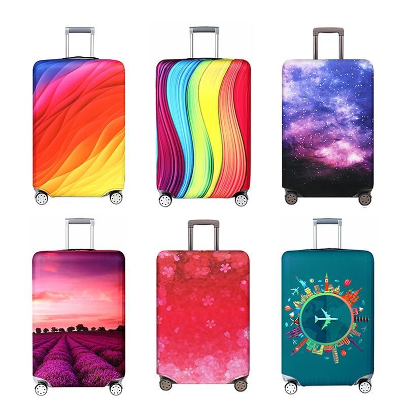 Travel accessories Luggage cover Suitcase dust cover Baggage box set elasticity high quality Fabrics Trolley protective case