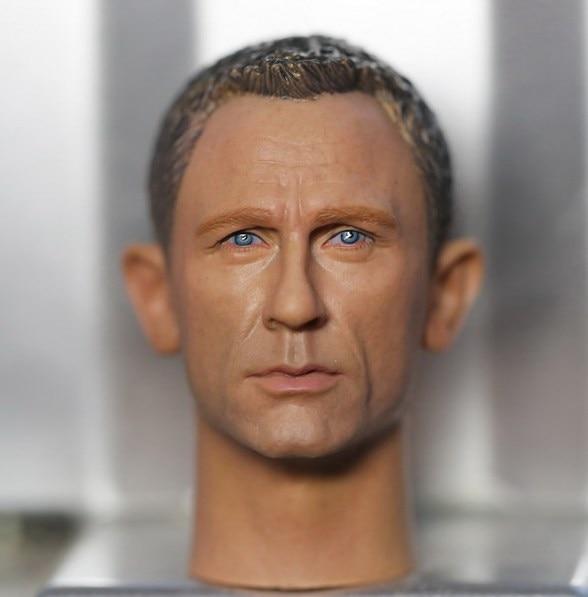 купить 1:6 scale male Figure accessories Daniel Craig 007 James Bond head shape carved for 12