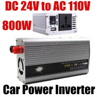 Hot sale Modified Sine Wave car Converter Power Inverter 800W 24V DC to 110V AC Boat With USB Port voltage transformer