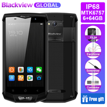 Blackview Helio P20 Mt6757 BV8000 Pro Mobile-Phone 64GB 6GB NFC Dash Charge Octa Core