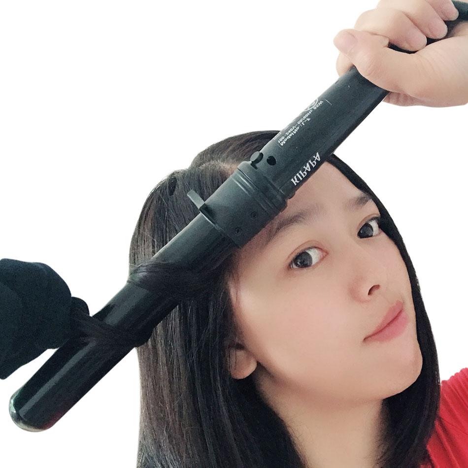 Tourmaline Ceramic Curl Iron 1.25 Inch With Tourmaline Ceramic Coating Hair Curling Wand 32MM Salon Heat Curling Iron Hot Tools