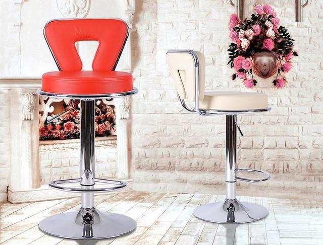 Rosso colore bianco sedile sedie da bar trasporto libero public