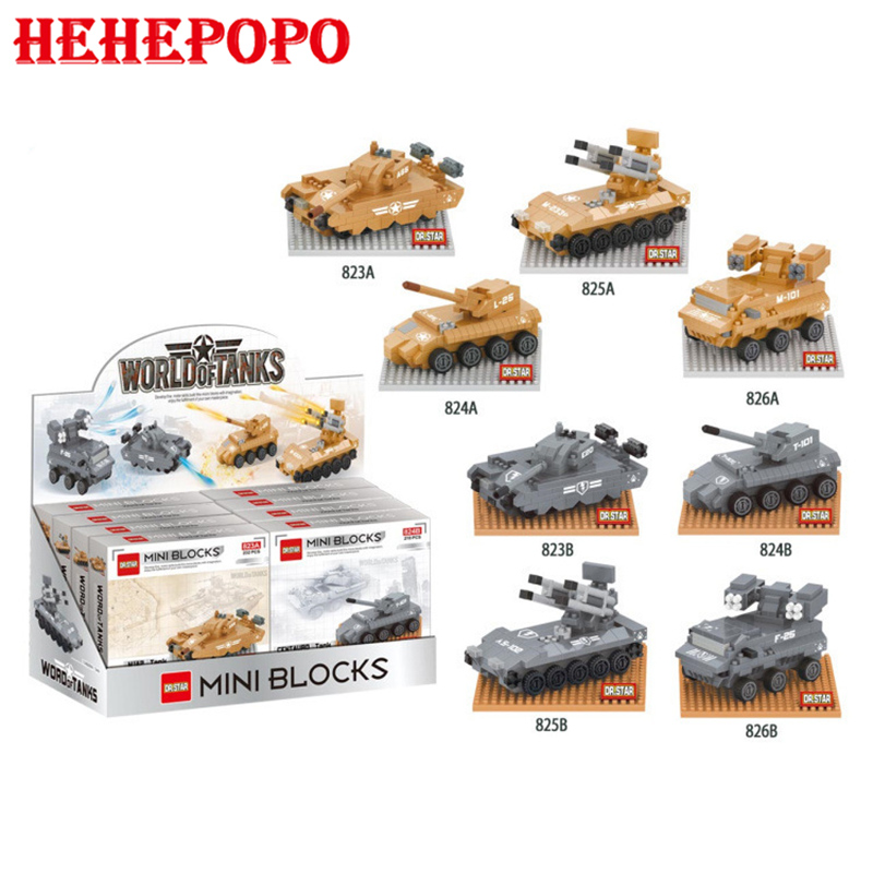 2017 8 pcs./set Tank World Series Of Building Bricks Boys' Favorite Military Vehicle Shaped Assembled Creative Blocks Toy Gift 8 in 1 military ship building blocks toys for boys