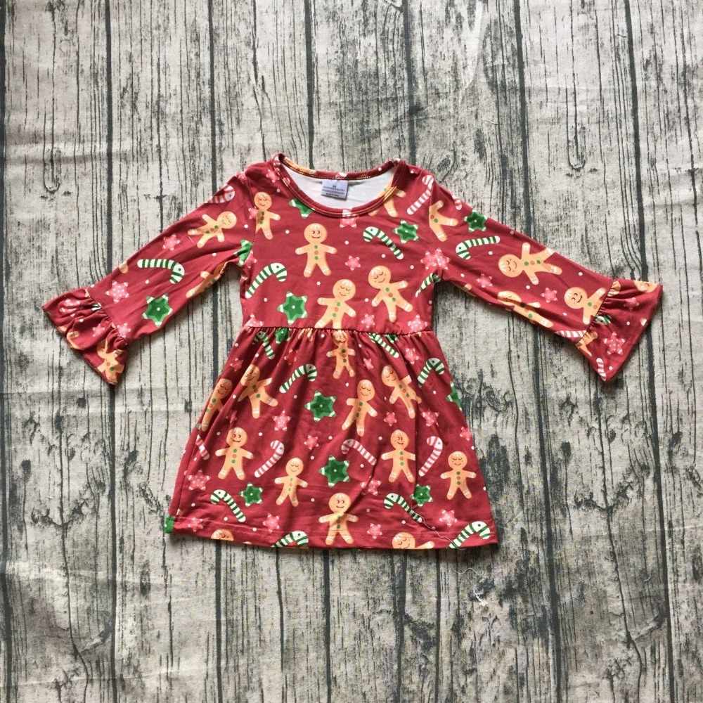 baby Fall /Autumn dress girls candy dress baby girls Christmas party long sleeve dress boutique dress soft milksilk dress music note party swing dress