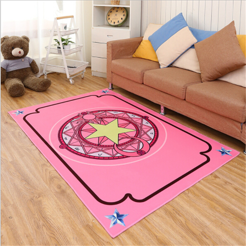 Lovely Kid Star Array Creative Polyester Printed Carpets For Living Room Bedroom Kid Room Rugs Area Home Floor Carpet Rug Door