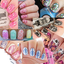 20 Piece wholesale big size Flower Pattern NO.1-20 Series Nail Art Image Plate Stamper Stamping Designs Manicure Template