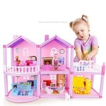 Кукольный домик ручной работы замок DIY домик игрушка миниатюрный кукольный домик подарки на день рождения развивающие игрушки кукла вилла девочка DIY игрушка