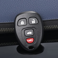 4 Buttons Auto Keyless Entry Remote Car Key Shell Case Fob For Buick Pontiac G5 G6 Chevrolet Rubber Pad Replacement Covers