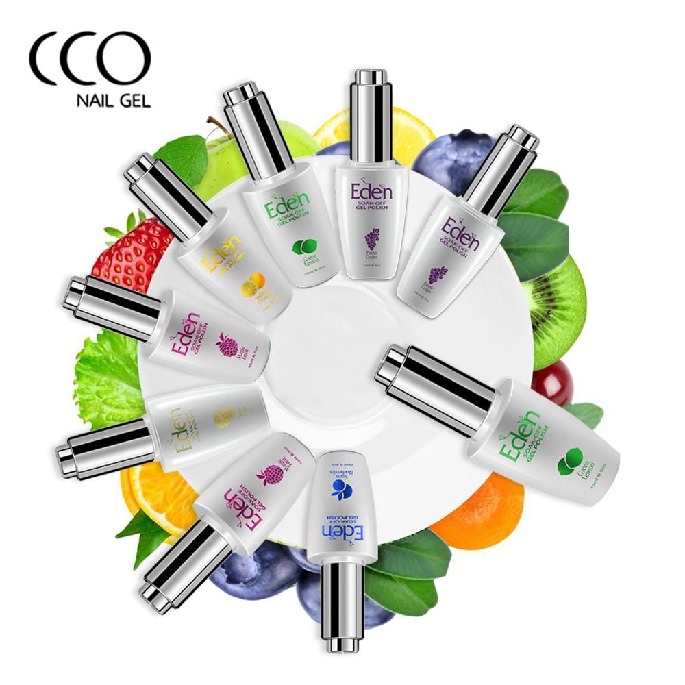 CCO EDEN Gel Vernis À Ongles Fruits Pectine Soak Off Hybride Semi Permanent UV Nail Gel Polonais Vernis Laque Pour Français Manucure Nail