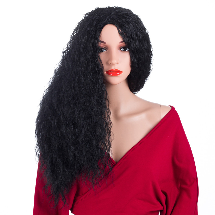 ELEGANT MUSES High Temperature Synthetic Fiber Women Wig Afro Kinky Curly Cosplay Hair Wig For
