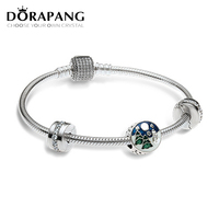 DORAPANG Newest Authentic 925 Sterling Silver Bead Charm Holiday Christmas Tree Charms Fit Bracelets SET Women