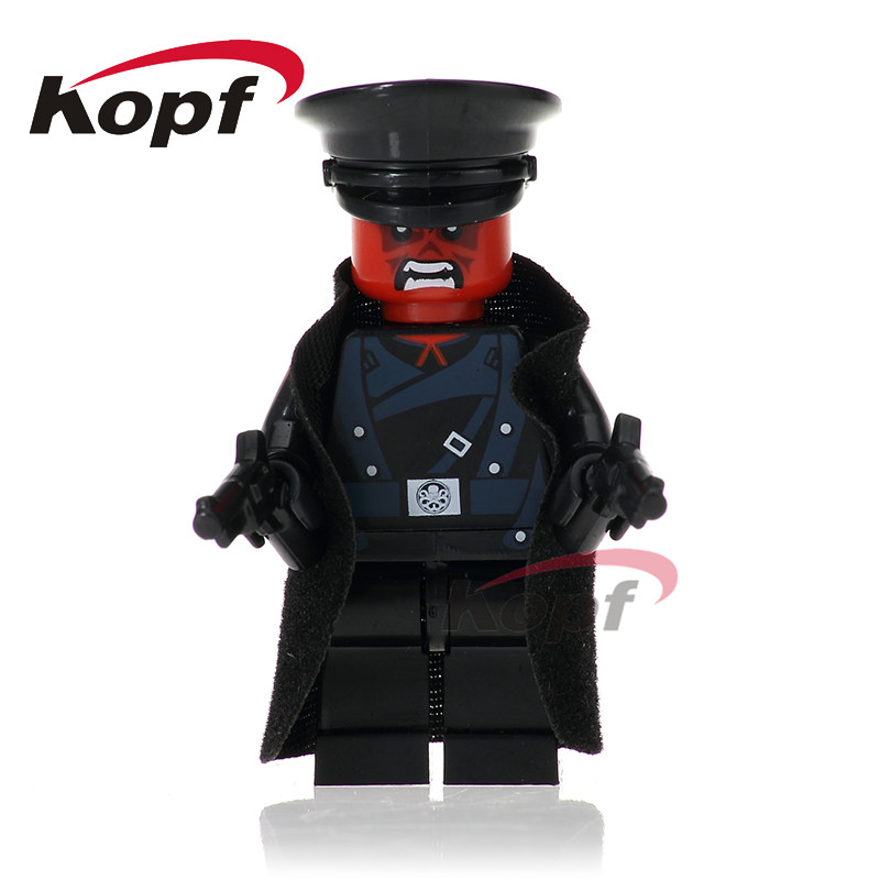 Single Sale Super Heroes Red Skull Mandarin Thor Grandmaster Valkyrja Bricks Action Building Blocks Children Gift Toys XH 709 single sale super heroes red yellow deadpool duck the bride terminator indiana jones building blocks children gift toys kf928