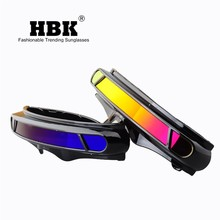 HBK X-hombre Cíclope X-hombre memoria especial materiales polarizado gafas de sol de diseño de escudo bien gafas de sol UV400 PC K40021