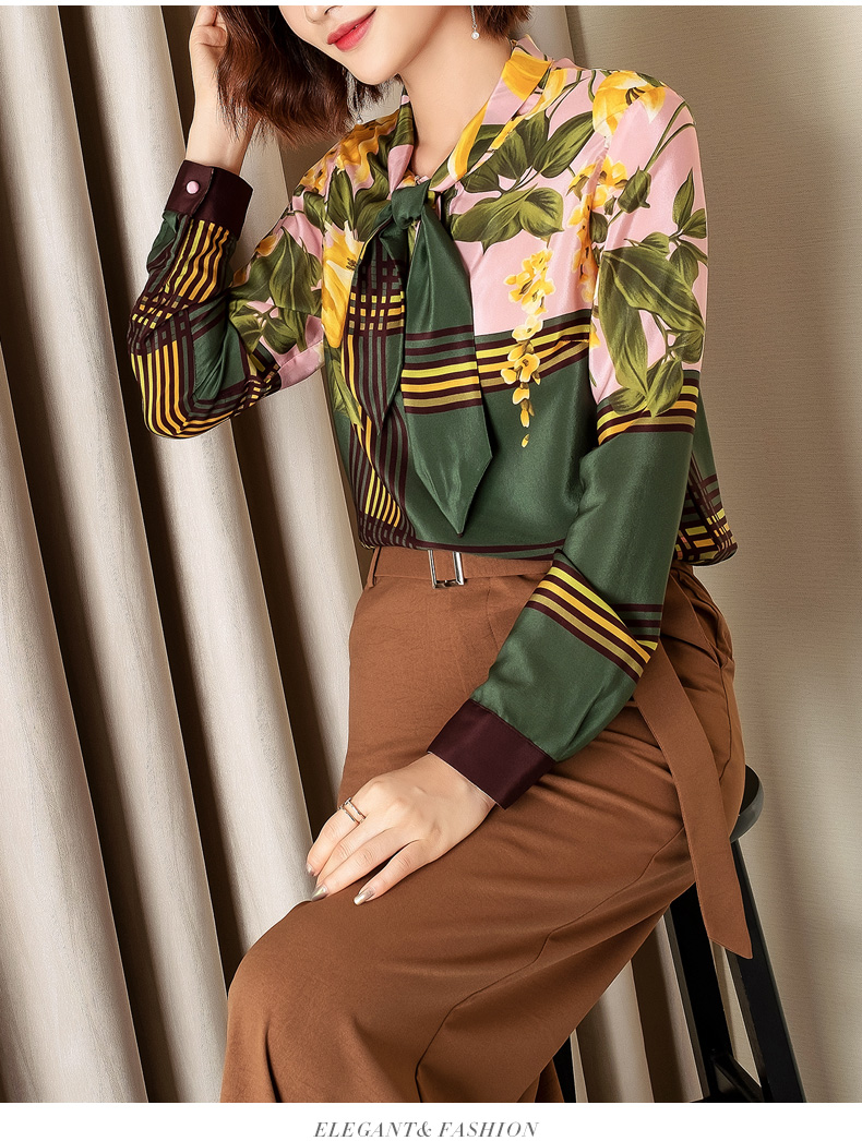 Luxe Partie S01703 Chemises amp; Vêtements Marque Style Blouses Mode De Européenne Femmes Piste 2019 Design 8FqrB87