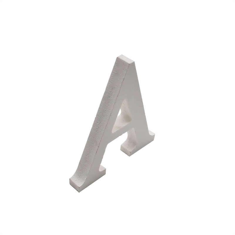 1 PC 10*8 centímetros Home Decor Decoração De Madeira De Madeira Letras Do Alfabeto da Festa de Aniversário de Casamento Fundo Sala De Mesa Branca decoração da parede