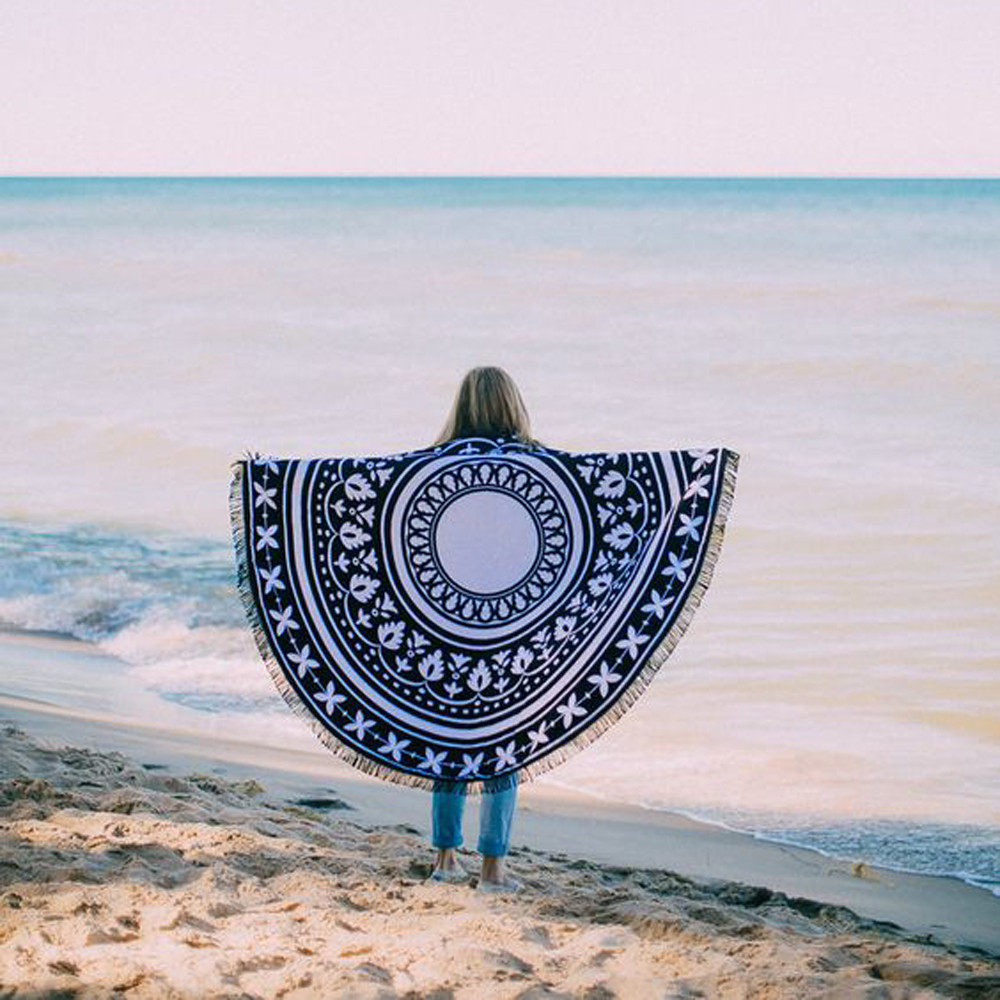 2017 Round Beach Pool Home Shower Towel Blanket Table Cloth Yoga Mat Round Beach Pool