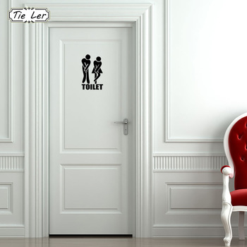 3 PCS Funny Toilet Entrance Sign Decal-Free Shipping Bathroom Stickers