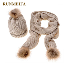 New Design Lady Acrylic Scarf Hat Set 5 Colors Classic Fashion Apparel for Women
