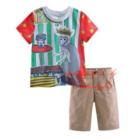 Colourful Fashion Style Hot Sale Monkey Pattern Boys Clothing Sets Boy Kids Clothes CS90318-18L