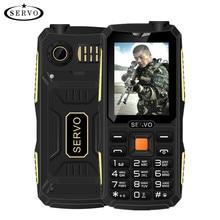 "Quad Sim Original SERVO V3 teléfono móvil A Prueba de Polvo a prueba de Choques 2.4 ""Teléfono 4 tarjetas SIM 4 en espera GPRS Idioma Ruso teclado"