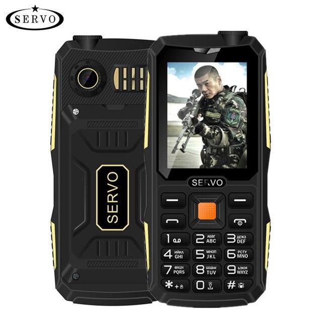 Quad Sim Original SERVO V3 mobile phone Dustproof Shockproof 2.4'' Phone 4 SIM cards 4 standby GPRS Russian Language keyboard