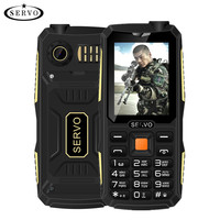 Quad Sim Original SERVO V3 Mobile Phone Dustproof Shockproof 2 4 Phone 4 SIM Cards 4