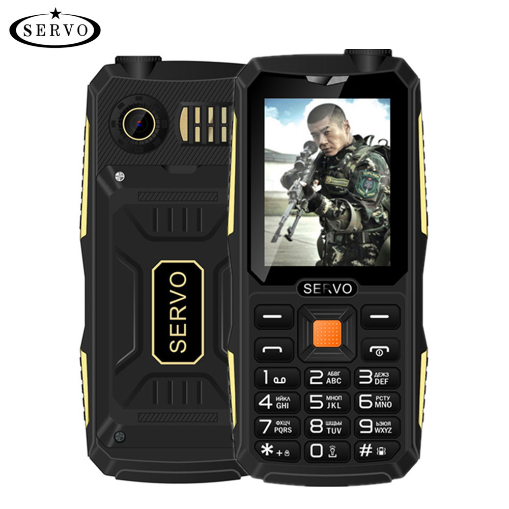 Quad sim originale servo v3 telefono mobile shockproof antipolvere 2.4 ''phone 4 sim card 4 standby gprs tastiera di lingua russa