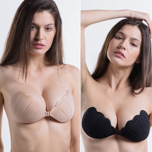 b2a9a5ffe4 Women Silicone Adhesive Stick on Gel Push Up Bras Backless Strapless  Drawstring Corset Invisible Bra-in Bras from Underwear   Sleepwears on  Aliexpress.com ...