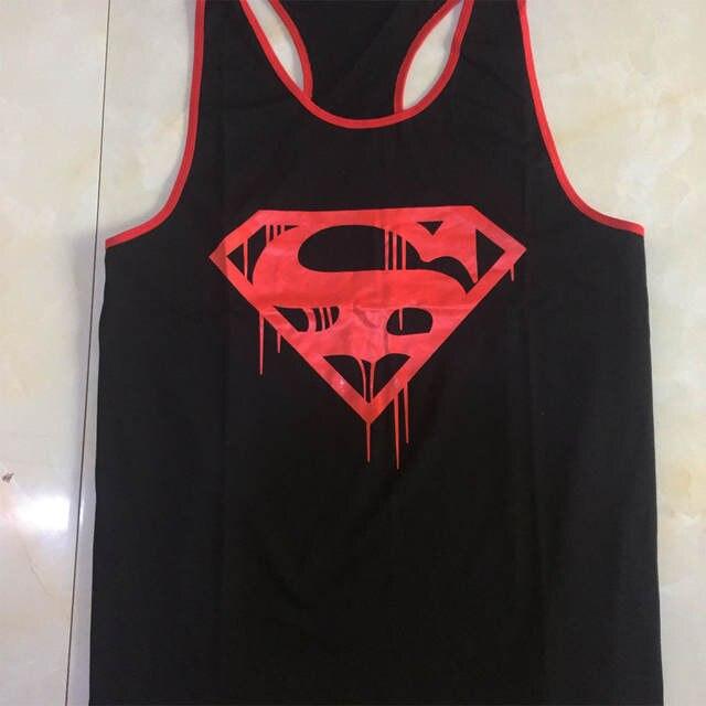 3546d9f5ad83d placeholder Superman Muscle Regatas Sem Mangas Dos Homens Camisa de Algodão  Desgaste Da Aptidão Singlet Regata Musculação