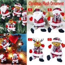 Christmas Doll Ornament Santa Claus Shaped Plush Pendant Bag Toy