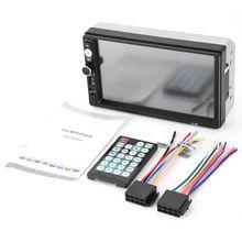 2 din автомобильный аудио стерео радио 7010B мультимедийный плеер 7 дюймов HD MP5 сенсорный экран цифровой дисплей Bluetooth USB FM Авторадио