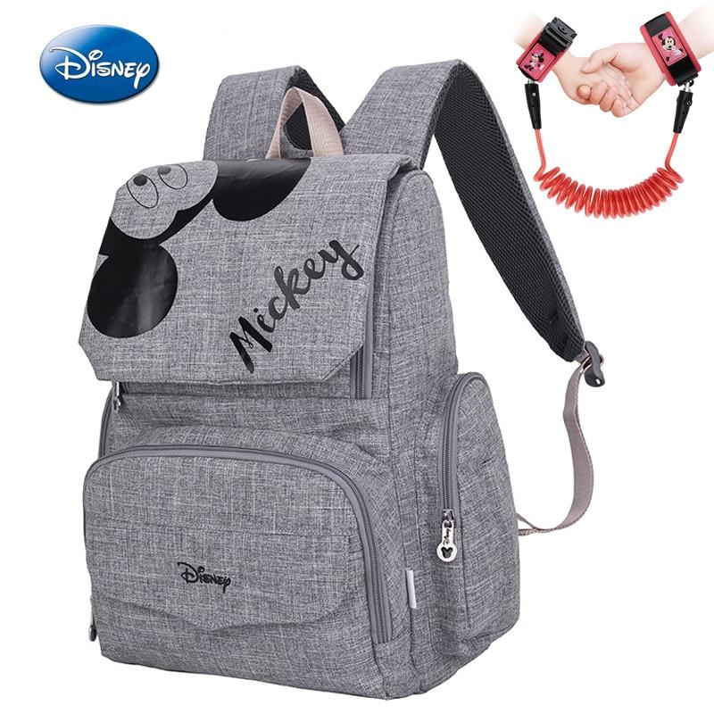 2019 Disney Mickey Minnie momie maternité Nappy sac bébé voyage Nappy sac à dos concepteur sac dallaitement pour bébé soins sac à couches