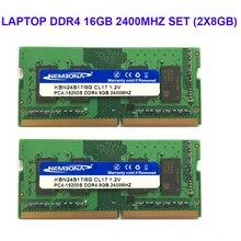 Kembona LAPTOP DDR4 16GB KIT(2X8GB) RAM Memory 2400mhz Memoria 260-pin SODIMM RAM Stick free shipping