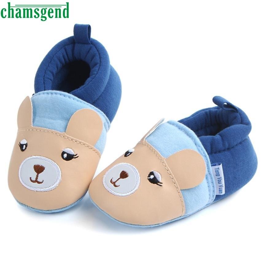 CHAMSGEND de primavera y otoño niño lindo bebé suave zapatos Fring suave suela antideslizante calzado zapatos de 5 de junio de P30