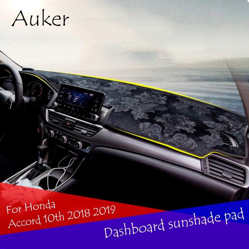 Voiture tableau de bord tapis de protection ombre coussin Photo Polyester Pad intérieur tapis pour Honda Accord 2018 2019