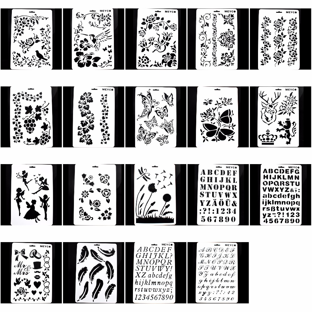 Diy Layering Painting Template Stencils For Diy