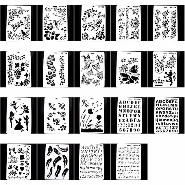 diy layering painting template stencils for diy scrapbooking photo